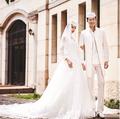 量身定做 穆斯林婚纱 男女套装结婚礼服